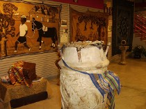 Drums were used with textiles as a form of communication in West Africa. We have many forms of non-verbal communication in the UGRR Secret Quilt Code Museum Traveling Exhibits.