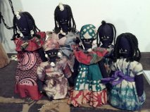 African Dolls at the WVSU Secret of the Quilts Exhibit