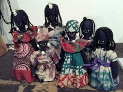 African dolls in our family artifact collection. Children in Africa had dolls, pets and toys.