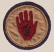 The Red Hand Patch worn by the men of the 371st US Infantry Colored Troops.