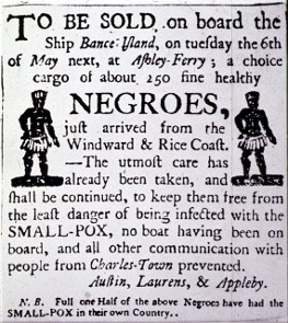 Charleston SCslave market advertisement.