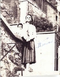 Mrs. Serena Strother Wilson in Baumholder West Germany with her daughter Maria Wilson.