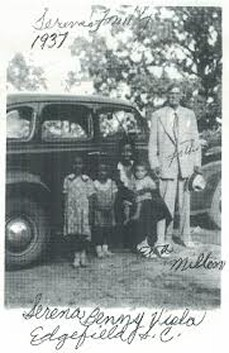 Milton & Mary Eva Strother with 3 of their 4 children  Doll Serena Strother, Geneva Viola Strother Witcher, Benjamin D. Strother Edgefield South Carolina,