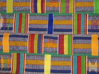 The Language of Kente is from Ghana West African. It is one of the textiles that was exhibited at the Quilt Code Museum by Leroi & Bertha Coubagy of Ghana. Can you read the Kente language?
