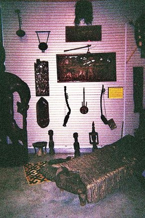 Zambian Display of musical instruments in the Music of the UGRR Exhibit.