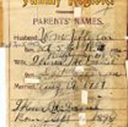 William & Irene Jefferson Bible records listing Parents in 1800's in Piggs River, Pittsylvania Cty. Virginia