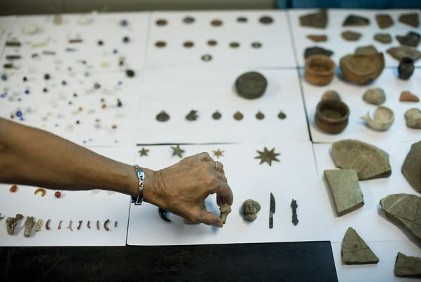 Rio de Janeiro Brazil slave port artifacts from 1844 are being unearthed while new development proceeded to get ready for the 2016 Olympics.