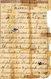 Marriage records for William & Irene Jefferson of VA & WV.
