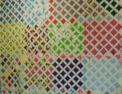 Nora Farrow McDaniel's Cathedral Pattern Quilt one of the UGRR Quilt Code Museum's Plantation Quilts Family Collection.